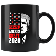 Keep America Great 2020 Trump Elections Mug - Support Donald Fathers Mothers Day Christmas Gift July 4th Patriotic Coffee Cup - Luxurious Inspirations