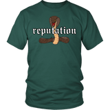 Reputation Shirt - Edition With A Cobra Snake T-Shirt T-shirt teelaunch District Unisex Shirt Dark Green S