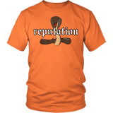 Reputation Shirt - Edition With A Cobra Snake T-Shirt T-shirt teelaunch District Unisex Shirt Orange S