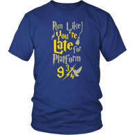 Run Like You're Late For Platform 9 3/4 Harry Wizard Funny T-Shirt - Luxurious Inspirations