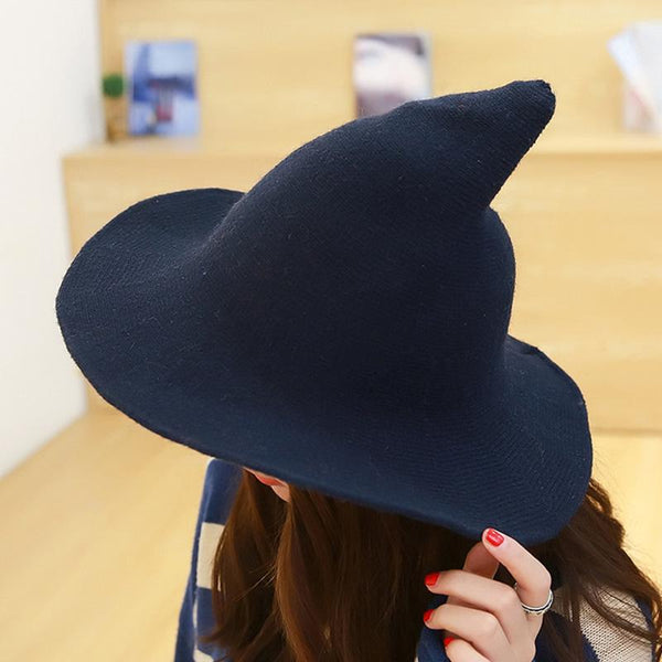 Sheep Wool Halloween Witch Inspired Autumn Hat - Luxurious Inspirations