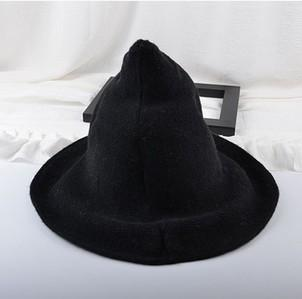 Sheep Wool Halloween Witch Inspired Autumn Hat Aliexpress Binge Prints Black