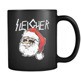 Sleigher Mug - Funny Santa Death Metal Christmas Coffee Cup - Luxurious Inspirations