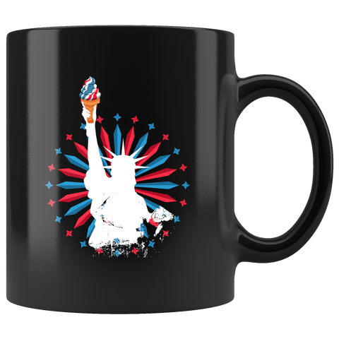 Statue Of Liberty Ice Cream Cone Torch Mug - Fun Summer Vacation 4Th Of July Freedom America Coffee Cup - Luxurious Inspirations