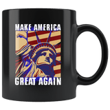 Statue Of Liberty Make America Great Again Mug - Support Freedom Trump Politics Women Coffee Cup - Luxurious Inspirations