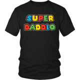 Super Daddio Shirt - Funny Mario Dad Tee T-shirt teelaunch District Unisex Shirt Black S