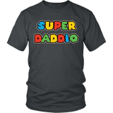 Super Daddio Shirt - Funny Mario Dad Tee T-shirt teelaunch District Unisex Shirt Charcoal S
