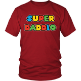 Super Daddio Shirt - Funny Mario Dad Tee T-shirt teelaunch District Unisex Shirt Red S