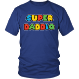 Super Daddio Shirt - Funny Mario Dad Tee T-shirt teelaunch District Unisex Shirt Royal Blue S