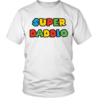 Super Daddio Shirt - Funny Mario Dad Tee - Luxurious Inspirations