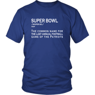 Superbowl Definition T-Shirt - Funny Patriots Fan Brady Tee - Luxurious Inspirations