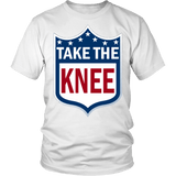Take The Knee Shirt - Football Resistance Tee T-shirt teelaunch District Unisex Shirt White S