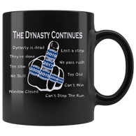 The Dynasty Continues Brady 6th Ring Mug - GOAT New England Offensive Middle Finger Too Slow Coffee Cup - Luxurious Inspirations