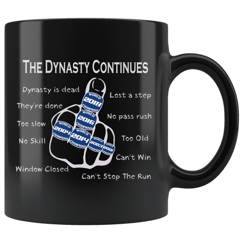 The Dynasty Continues Brady 6th Ring Mug - V2 GOAT New England Offensive Middle Finger Too Slow Coffee Cup … - Luxurious Inspirations