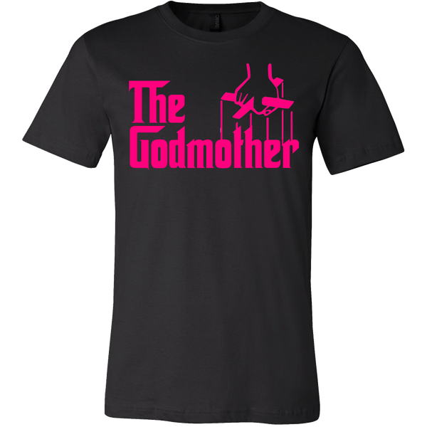 The Godmother Shirt - Funny Godfather Parody Tee T-shirt teelaunch Canvas Mens Shirt Black S