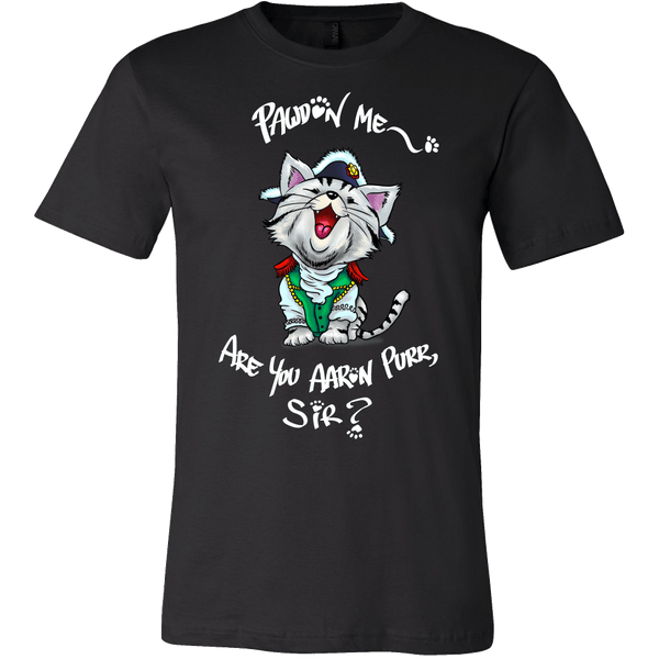 The Hamilton Cat Shirt - Funny Cute Aaron Purr Tee T-shirt teelaunch Canvas Mens Shirt Black S
