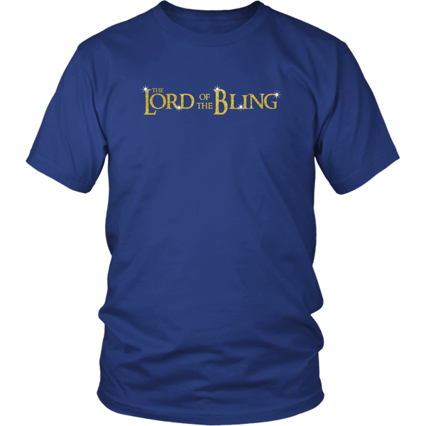 The Lord Of The Bling Shirt - Funny Movie Parody Jewelry Fan Lovers Tee Shirt For Men And Women Unisex T-shirt teelaunch District Unisex Shirt Royal Blue S