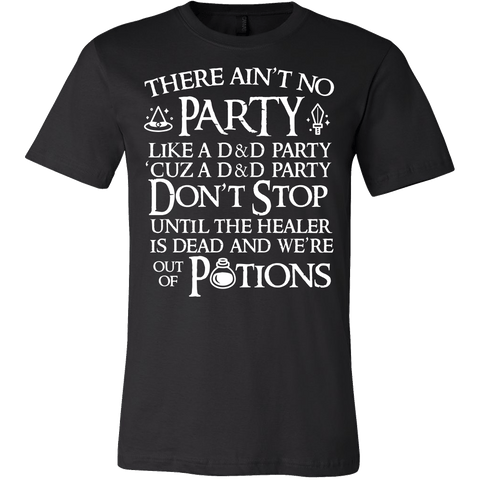 There Ain't No Party Like A D&D Party Shirt - Funny Dungeons And Dragons Tee - Luxurious Inspirations
