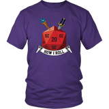 This Is How I Roll D20 Dice DND T-Shirt - Luxurious Inspirations