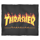 Thrasher Magazine Fleece Blanket - Awesome Skater Skate Cover - USA - Luxurious Inspirations