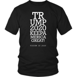 Trump 2020 Keep America Great T-Shirt - Funny Eye Exam Vision is 2020 20/20 Potus President Donald Elections Pro Tee Shirt T-shirt teelaunch District Unisex Shirt Black S