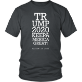 Trump 2020 Keep America Great T-Shirt - Funny Eye Exam Vision is 2020 20/20 Potus President Donald Elections Pro Tee Shirt T-shirt teelaunch District Unisex Shirt Charcoal S