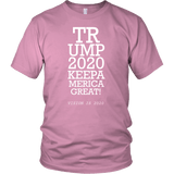 Trump 2020 Keep America Great T-Shirt - Funny Eye Exam Vision is 2020 20/20 Potus President Donald Elections Pro Tee Shirt T-shirt teelaunch District Unisex Shirt Pink S