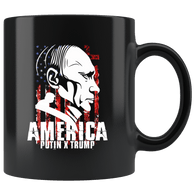 Trump Russia Anti-Trump Anti Impeach Mug - Putin Friend American Flag Coffee Cup Drinkware teelaunch black