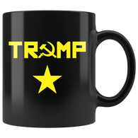 Trump Russia Anti-Trump Anti Impeach Mug - Putin Friend Coffee Cup Drinkware teelaunch black