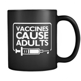 Vaccines Cause Adults Mug - March For Science Vaccination Black Coffee Cup Drinkware teelaunch black