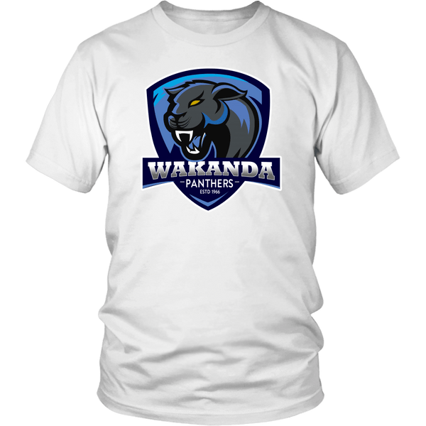 Wakanda Panthers Since 1966 T Shirt - Funny Black History Month Fan T-Shirt T-shirt teelaunch District Unisex Shirt White S
