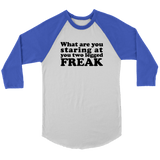 What Are You Looking At You Two Legged Freak Shirt - Funny Tee Long sleeve Leg Amputee Humor Meme T-Shirt - Luxurious Inspirations