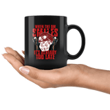 When The DM Smiles It's Already Too Late Mug - Funny D&D D20 RPG Coffee Cup Drinkware teelaunch