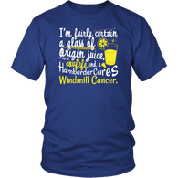 Windmill Cancer Covfefe Funny Anti Trump T-Shirt - ITMFA Stable Genius POTUS Tee Shirt T-shirt teelaunch District Unisex Shirt Royal Blue S