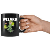 Wizard Cat Black Mug - Funny Class DND D&D Dungeons And Dragons Coffee Cup Drinkware teelaunch