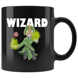 Wizard Cat Black Mug - Funny Class DND D&D Dungeons And Dragons Coffee Cup Drinkware teelaunch black