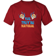 Yes They're Natural T-Shirt - Funny Dice DND D20 D Cup RPG D1 Cleric Tee Shirt T-shirt teelaunch District Unisex Shirt Red S
