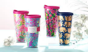 24oz Monogrammed Lily Pulitzer Tervis