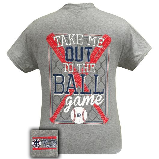 Girlie Girl Short Sleeve Take Me Out To The Ballgame