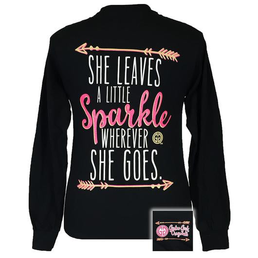 Girlie Girl Long Sleeve Sparkle Black