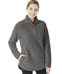 Charles River Sherpa/Fleece Pullover Quarter Zip