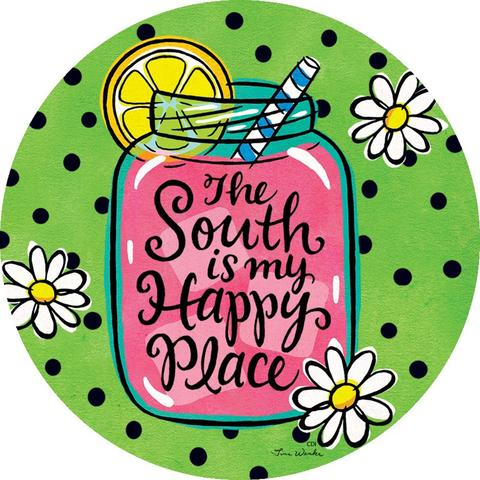 The South is My Happy Place Accent Magnet