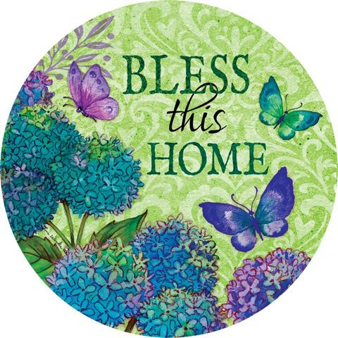 Bless This Home Floral Accent Magnet