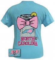 Lilly Girl Youth Mason Jar North Carolina Sky Blue