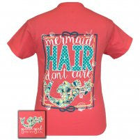 Lilly Girl Mermaid Hair Coral Silk