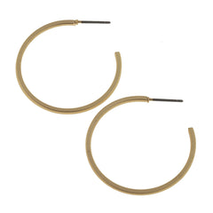 "Open Circle Hoop Earring 1.29""L x 1.29""W"