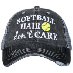 Softball Hair Dont Care Trucker Hat