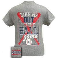 Girlie Girl Originals: Short Sleeve Take Me Out To The Ballgame T-Shirt