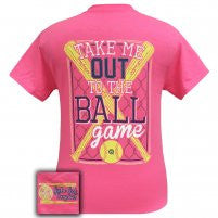 Girlie Girl Originals: Short Sleeve Take Me Out To The Ballgame Softball T-Shirt