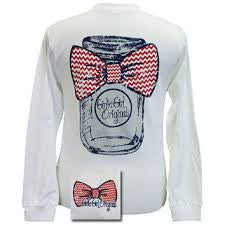 Girlie Girl White Mason Jar Long Sleeve